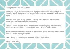 wedding tips from the pros!