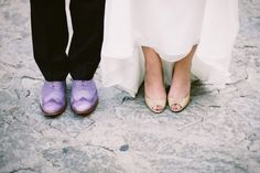 groom's shoes that coordinate with the color scheme :) // photo by JessicaWatsonPhotography.com Purple Wedding, Wedding Bride, Wedding Shoes, Wedding Stuff, Wedding Color Schemes, Wedding Colors, Metallic Shoes, Italy Wedding, Jessica Watson