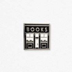 "reminds me of the series, ""black books"" Bookstore enamel pin Books And Tea, All The Bright Places, Jacket Pins, Kirara, This Is A Book, Cool Pins, Pin And Patches, Up Girl, Ravenclaw"