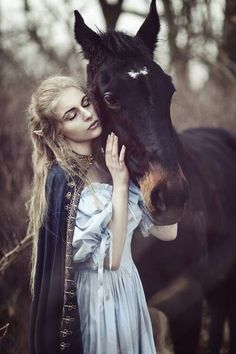a lady and her horse