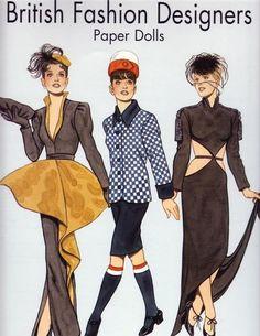 Tom Tierney British Fashion Designers Paper Dolls by DejaVuPatterns, Barbie Paper Dolls, Paper Dolls Book, Vintage Paper Dolls, Paper Toys, Paper Craft, Love Fashion, Girl Fashion, Paper Dolls Printable, Bobe