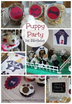 When our daughter's first word was Daisy (the name of one of our family pups) we knew that having a puppy themed first birthday party would be PERFECT!