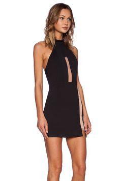 9278dd90e902 NBD Illusion Mock Collar Dress in Black