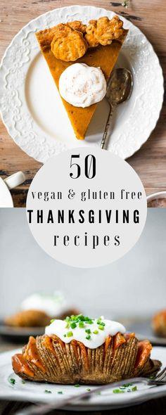 50 Healthy Gluten Free & Vegan Thanksgiving Recipe Ideas