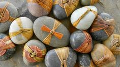 DELOSS WEBBER - beautiful woven wrapped stones