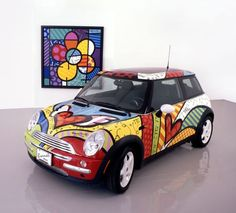 BMW Mini Cooper by Romero Britto…Sweet!!! repinned by www.smg-design.de #smgdesignselect #smgdesignshop
