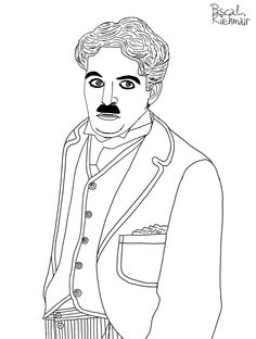 """""""My happiest days are those in which I do good work.""""― Charlie Chaplin ......... チャーリー・チャップリン Caricatures, Charlie Chaplin, Happy Day, Cartoons, Cartoon, Cartoon Movies, Caricature, Comics And Cartoons, Comic Books"""