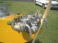 Get DIY plans and information to convert a VW engine for aircraft use. Vw Engine, Aircraft Engine, Ultralight Aircraft Kits, Kit Planes, Bus Girl, Experimental Aircraft, Combustion Engine, Volkswagen, Engineering