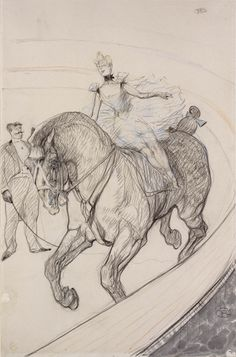 "Henri de Toulouse-Lautrec, ""At the Circus: Bareback"", 1899. Gift of Mrs. Murray S. Danforth. (Courtesy of the RISD Museum, Providence, RI)"