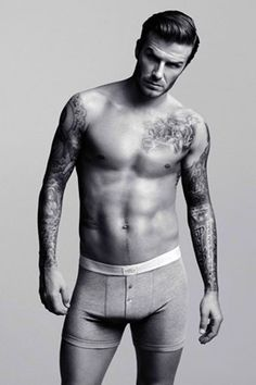 David Beckham looking hot for the new H&M; collection. Yummy!!