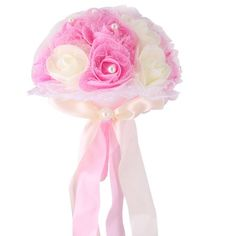 Home - Country Decor Idea Foam Roses, Prim Decor, Rose Buds, Bouquet, Ornaments, Bridal, Pink, Crafts, Wedding