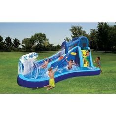 Water Slide Inflatable Bounce House Pool Commercial Bouncer Party Waterslide