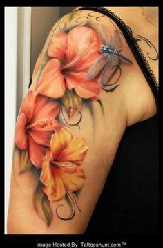 Lily Flower Tattoo. via forcreativejuice.com