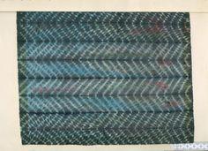 Striped indigo zig zags, Jane Smith 1981