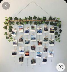 Diy Wall Decor For Bedroom, Cute Room Decor, Room Ideas Bedroom, Cozy Bedroom, Diy Wall Art, Home Decor, House Plants Decor, Plant Decor, Aesthetic Room Decor