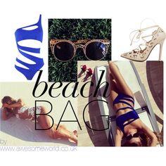 beach bag by awesomeworld.co.uk by wowawesomeworld on Polyvore Cut Out Style  --------------------------------------- Bikini bodycon bandage colorful neon green celeb celebrity kim kardashian strappy 2015 trendy trend cute sweet beautiful gorgeous bikinis monokini set 2 pieces dress dresses crop tops long maxi skirt jungle leopard shoes high heels luxury outfit beach night day pool summer spring clothes blogger #bikini #monokini #blue #luxury #strappy #sexy #beautiful #lace #dress #mesh…