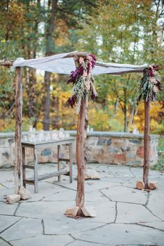 Gorgeous Chuppah: http://www.stylemepretty.com/little-black-book-blog/2014/12/23/rustic-elegance-at-sweetwater-farm/ | Photography: Ciro - http://cirophotography.com/