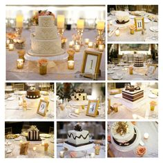 Wedding cake centerpieces by Amy Beck