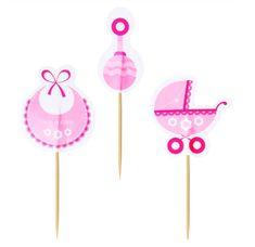 Op zoek naar leuke cupcake decoratie voor de geboorte van jullie dochter? Deze leuke geboorte cupcake versiering bestaat uit een set van 12 cupcake prikkers. Je ontvangt van iedere prikker vier stuks! De prikkers hebben een totale hoogte van circa 9 centimeter en zijn gemaakt van dun karton. Cupcake Toppers, Cupcakes, Baby, Card Stock, Cupcake, Newborn Babies, Infant, Baby Baby, Cupcake Cakes