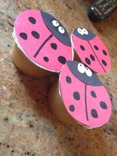 Preschool snack Ladybug applesauce