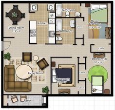 Small 3 Bedroom Floor Plans - Small 3 Bedroom Floor Plans , Simple House Design Simple 3 Bedroom House Plans Home House Plans One Story, Family House Plans, Dream House Plans, Story House, Modern House Plans, Small House Plans, 3 Bedroom Floor Plan, 2 Bedroom House Plans, Beach House Plans