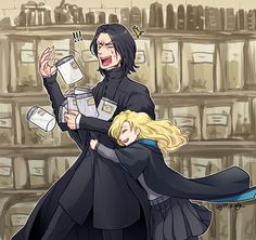 "severus-snape-my-eternal-prince: "" Artwork by ジル@ついったー ( jill_… – Harry Potter – Men Harry Potter Anime, Harry Potter World, Arte Do Harry Potter, Harry Potter Puns, Harry Potter Ships, Harry Potter Universal, Harry Potter Hogwarts, Severus Snape, Funny Harry Potter"