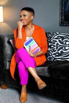 Orange Color Combinations, Color Combinations For Clothes, Fashion Color Combinations, Colour Blocking Fashion, Color Blocking Outfits, Colourful Outfits, Colorful Fashion, Orange Outfits, Girl Fashion