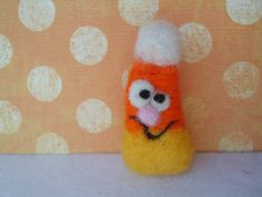 Needle Felted Candy Corn