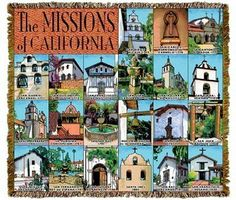 California Missions Tapestry