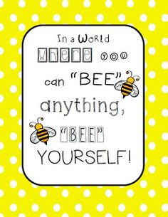 Made it Monday (on Tuesday): Bee Classroom Poster!
