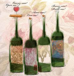 What my Wine says to me! by Jennifer Cook, via Behance