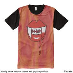 Bloody Heart Vampire Lips in Red