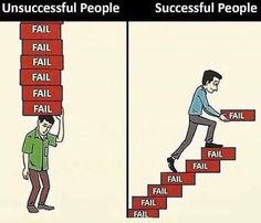 Fail your way to success. True Quotes, Best Quotes, Motivational Quotes, Inspirational Quotes, Happy Quotes, Quotes Quotes, Reality Quotes, Success Quotes, Success Mindset