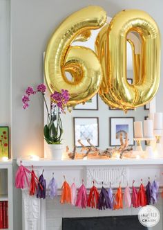 Add color and fun to your next party! Get the step-by-step tutorial for creating this DIY Tassel Garland for your celebration. 60th Birthday Ideas For Mom, 70th Birthday Parties, Mom Birthday, Birthday Celebration, 60th Birthday Balloons, Birthday Shots, Surprise Birthday, Diy Tassel Garland, Party Garland