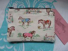 Handmade Coin Purse Cath Kidston Pony Horse Trials Fabric Cosmetic Pouch Clutch