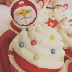 Red velvet Christmas cupcake!