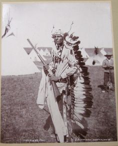 Blackfoot Indian Man, name & date unknown.