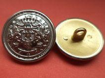 5 METALLKNÖPFE silber 21mm (2751-3) Knöpfe Metall