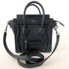Celine Nano Luggagetote Crossbody #celine #bag #black