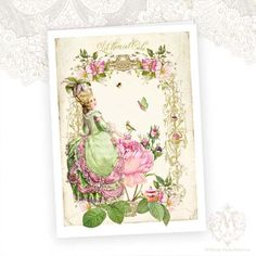 Marie Antoinette Greeting Card Let them eat Cake by mulberrymuse,