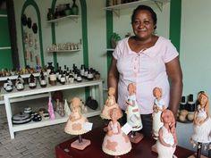 Raimunda Teixeira, presidente da Cooperart diz que peças são conhecidas por todo o mundo (Foto: Patrícia Andrade/G1)
