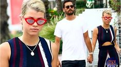 Scott Disick, 34, and Sofia Richie, 19, hold hands in Miami.... hours af...