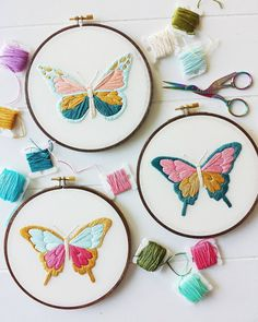 Don't forget, the butterfly PDF embroidery pattern is only available for the next few days! Link in profile ❤