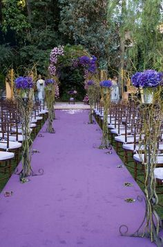 Outdoor Wedding, Purple, Violet, Glamorous Wedding, Formal, Evening, Real Wedding || Colin Cowie Weddings