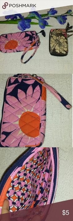 Vera Bradley Wallet Lot Vera Bradley wallet lot of 2. The first one showed is in really good condition. The second one is an add on item. Vera Bradley Bags Clutches & Wristlets
