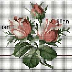 This Pin was discovered by Ayş Cross Stitch Pillow, Cross Stitch Rose, Cross Stitch Borders, Cross Stitch Flowers, Cross Stitch Kits, Cross Stitch Charts, Cross Stitch Designs, Cross Stitching, Cross Stitch Embroidery