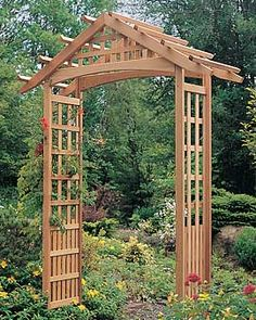 wooden arbor  i dream of a wooded yard