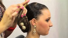 Tutorial: Cómo poner el moño cosido | Realce Alta Posticería - YouTube Hair Movie, Asian Vegetables, Historical Costume, Hair Videos, Diamond Earrings, Braids, Hair Styles, Youtube, Folklore