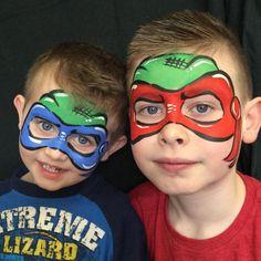 face paint ninja turtles - Google Search
