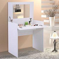 Elegant Bedroom Makeup Vanity Table W/Flip-Up Mirror Chic Dressing table Modern Wood Makeup Vanity, Bedroom Makeup Vanity, Bedroom Vanity Set, Dresser Vanity, Diy Makeup Vanity Plans, Makeup Dresser, Bedroom Vanities, Dresser Table, Vanity Ideas